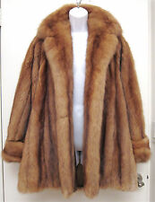 M L Geoffrey Beene Golden Sable Fur Swing Stroller Coat Jacket Canadian Russian