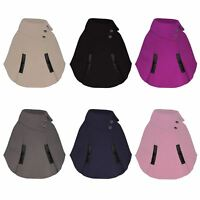 Kids Poncho Asymmetrical Girls Pull on Cape Button Detail Coat Sizes 3-14 Years