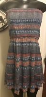 Medium Ecote Anthropologie Straplessless Multi-Color Dress