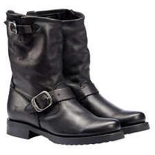 NIB Women's Frye Veronica Short Black Leather Boots, Sizes 6 to 11