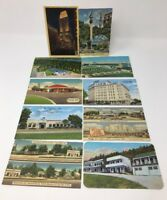 VINTAGE POSTCARD Hotel Motel Cafe Lot/10 Washington DC Cincinnati Texas #6920A