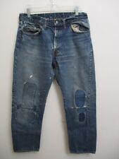 Vintage Levi's 505 BIG E Jeans PATCHWORK Repairs Size 33 X 28