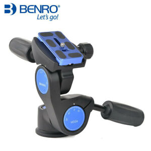 Benro HD3A Aluminium 3 Way Head With PU-70 Quick Release Plate Max Loading 12kg