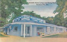Georgia postcard Hawkinsville Massee Motor Lodge & Dining Room ca 1959