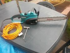 """MAKITA UC4020A CORDED ELECTRIC CHAINSAW 16""""(400mm) 240V-1800W BAR WORKING ORDER"""