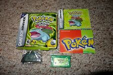 Pokemon LeafGreen Leaf Green Game Boy Advance  Complete w/ Adapter Poster GREAT