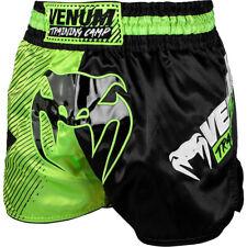 Venum Training Camp Muay Thai Shorts - Black/Neo Yellow