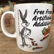 More details for retro vintage bugs bunny mug white retro coloroll kilncraft warner bros 1988