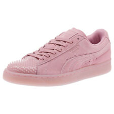 PUMA Suede Leather Jelly Ladies Trainers Pink suede Womens Shoes