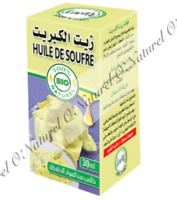 Huile de Soufre BIO 100% Pure & Naturelle 30ml Sulfur Oil, Aceite de Azufre