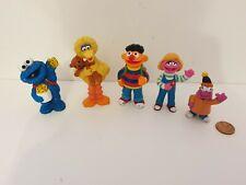Vintage Sesame Street Figure Lot, Big Bird, Ernie, Cookie Monster, Tyco, Henson