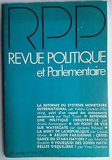 Revue Politique et Parlementaire 1/1974; Point de vue sur Watergate