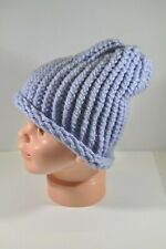 Purple Lilac Lavender Hand Knit Slouchy Hat Beanie Toddler Boy Girl Child