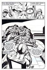 LES 4 FANTASTIQUES CONTRE CYBERMAN PLANCHE DE MONTAGE ORIGINALE PAGE 23