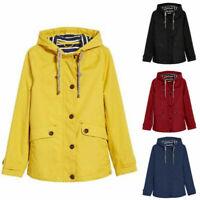 UK Womens Waterproof Raincoat Ladies Outdoor Wind Rain Forest Jacket Coat Mac