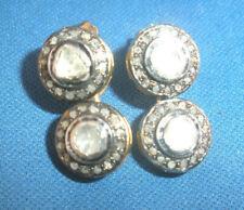AMAZING ANTIQUE GENUINE 2 CT OLD ROSE CUT DIAMOND 14K STUD DROP EARRINGS