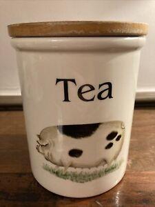 Vintage TG Green Cloverleaf Country Kitchen Tea Storage Jar