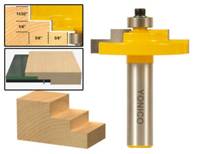 """3/16"""" Glass Stepped Rabbet Router Bit - 1/2"""" Shank - Yonico 18127"""