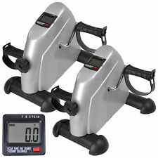 2 Pack Pedal Exerciser Stepper Foot Arm Cycle Bike Fitness Aerobic LCD Gym Home