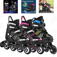 Adjustable Inline Skates Roller Blades Kid Size Breathable Outdoor Sport Gift