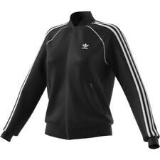 Giacca da donna Adidas SST TT Track Jacket CE2392 nero bianco felpa con zip