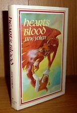 HEART'S BLOOD by Jane Yolen Tru US HB 1st! SIGNED! SCARCE Pit Dragons Book 2!