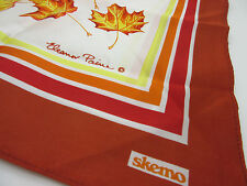 Vtg Canadian Maple Leaves Multi-Color Scarf Eleanor Paine Canada Designed Japan