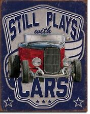 Still Play With Cars Auto Shop Garage Repair Retro Metal Sign Picture Decor Gift