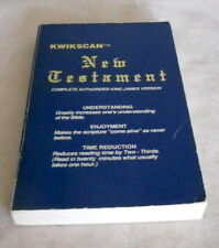 KWIKSCAN New Testament KING JAMES VERSION Bible