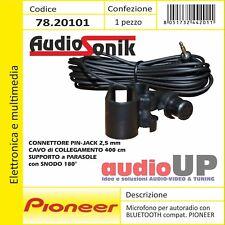 Microfono per radio BLUETOOTH PIONEER jack 2,5mm cavo 400 cm Supporto a parasole