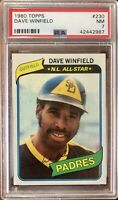 1980 Topps #230 Dave Winfield PSA 7 NM CondItion SD Padres Twins NY Yankees HOF