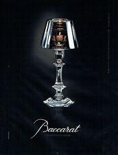 Publicité Advertising 089  2007  cristal Baccarat  collection de lumière