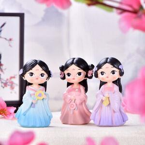 1pc Chinese court girl Little Princess Model doll Hanfu girl Desktop dY^Z2
