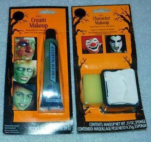Cream Makeup Green White Character Makeup Sponge Halloween Costume Cosplay