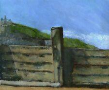 Terry George painting of  a breakwater at Cromer, Norfolk