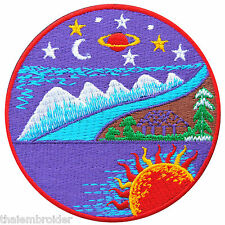 Sky Mountain Sea Snow Hill Galaxy Sun Stars Moon Pine forest Iron on Patch #R007