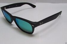 Ray-Ban Sunglasses Wayfarer Flash RB2132 622/19 Black Matte / Green Mirror Lens