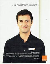 Publicité Advertising 107  2009   Orange  assistance Internet  Manuel