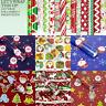 3X Christmas Wrapping Paper Present Tree Santa Wrap Decor Xmas Party Roll CH