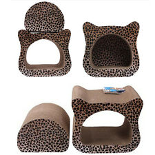 Deformable Cat Deign Pet Cat Toy Corrugated Board Scratcher with Catnip