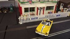 Vintage Tri-ang SCALEXTRIC C83 SUNBEAM TIGER jaune type 1971 2 Made in England