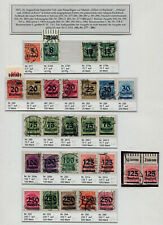 Inflation: Michel Number 277 - 296 Postmarked, with Untertypen, E.g. No. 289 a,
