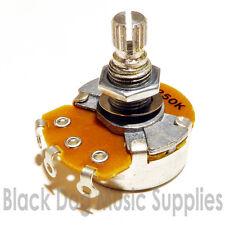 Guitar potentiometer pot choice  A250k B250K A500B B500K 24mm dia tone volume