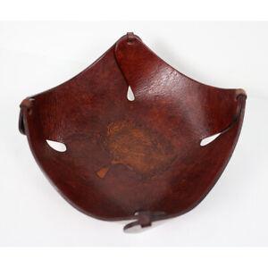 "Unicef Peruvian Handmade Burnished Leather Tree of Life Catchall Bowl, 8""x9"""