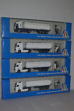 4 Italeri Tanker Trucks Volvo & Iveco 1:87