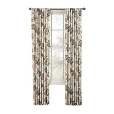 Style Selections Tombolo Floral Nutmeg Back Tab Basketweave Curtain Panel 84x54