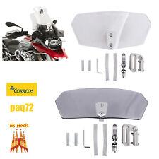 Parabrisas ajustable de flujo de aire Deflector de viento Universal motocicleta