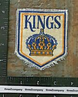 Vintage Los Angeles Kings NHL Hockey Team Patch Burlap