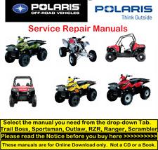 Polaris Atv Repair Service Pdf Manuals (Sportsman-Trail Boss-Outlaw-Rzr-Ranger)