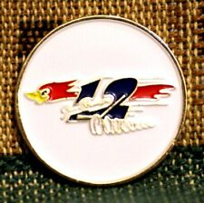 "Rare_ Limited Edition _ ROADRUNNER  1"" Gold Plated Golf Ball Marker"